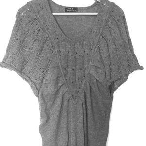 Dresses & Skirts - Gray Knit Mini Sweater Dress/ Vest
